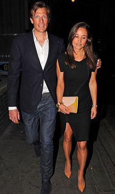 Pippa Middleton and boyfriend Nico James attended the launch party of Mr Fogg's in London, 21 May 2013