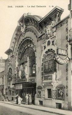 Les cafés et restaurants du Paris d'antan - Le Bal Tabarin, rue Victor-Massé, au pied de Montmartre... (carte postale, vers 1910)