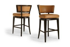 "Bar & Counter Stools - A. Rudin - available through Minor Details Interior Design. Need in smoky black or painted black frame with ivory leather upholstery, as shown in other ""barstool"" pin."