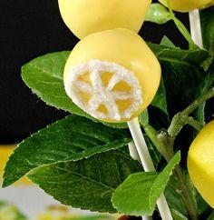 Lemon cake pops