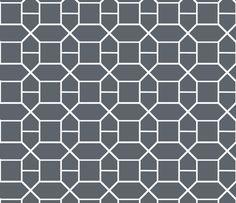 Grey Nautical Chain fabric