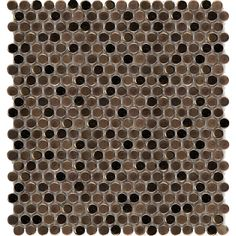 Emser Confetti Bronze 11.81 in. x 11.81 in. x 8mm Porcelain Mesh-Mounted Mosaic Tile