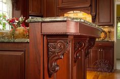 Attention to detail from Royal Cabinet Company on this #Kitchen Island @KitchenBathChan