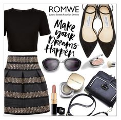 """""""Romwe"""" by little2amsterdam ❤ liked on Polyvore featuring Jimmy Choo, Ted Baker, Dolce&Gabbana and Chanel"""