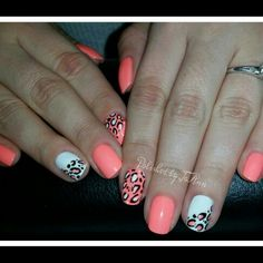 Love these #leopardprintnails ♡ cute and perfect for #spring !