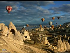 The list of places to see in Capadocia is very long. Cappadocia Balloon Tours, Cappadocia Underground cities, cave hotels in Cappadocia, Cappadocia Holidays Air Balloon Rides, Hot Air Balloon, Balloon Race, Air Ballon, Places To Travel, Places To See, Travel Destinations, Romantic Destinations, Romantic Places