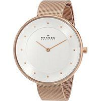 Skagen Women's SKW2142 Gitte Rose Gold-Tone Stainless Steel Watch with Mesh Band