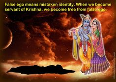 False Ego  For full quote go to: http://quotes.iskcondesiretree.com/bhakti-charu-swami-on-false-ego/  Subscribe to Hare Krishna Quotes: http://harekrishnaquotes.com/subscribe/  #FalseEgo