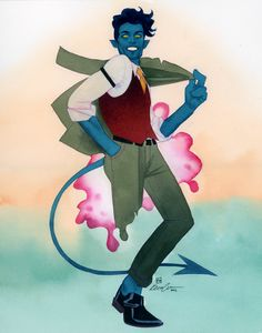 Bless Kevin Wada and his art. This is a Nightcrawler commission he did at Wondercon 2015. Definitely check out his art it's amazing!