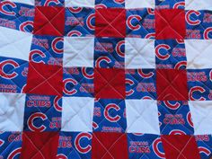 Chicago Cubs  full size quilt by Nflquiltsbytammy on Etsy