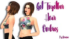 Sims 4 CC's - The Best: Get Together Hair Ombres By Enrique