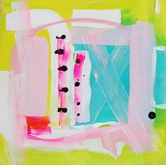 Abstract Painting  'Jump Rope' by ChristineDovey on Etsy, $115.00
