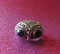 Antique Silver Owl Ring-FREE SHIPPING!!! three things i love in one<3