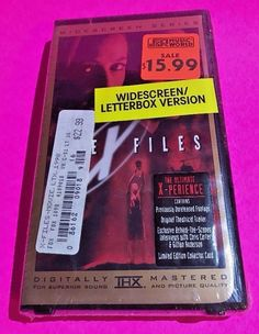 The X-Files Fight the Future VHS Widescreen THX Video Digital Master New Sealed