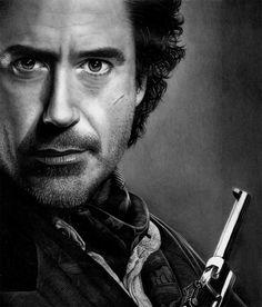 Sherlock Holmes pencil portrait by Stan Bossard