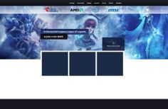 This is new concept of webpages for Czech gaming team.