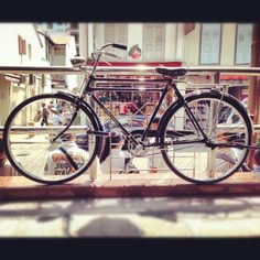 Flying Pigeon Bicycle. Rare. Shining. This owner must really love his bicycle. #iphoneography