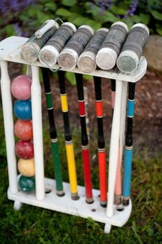 croquet and other yard games for an outdoor reception