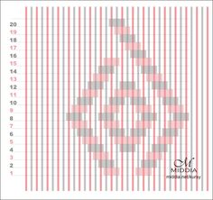 Diamond Pattern for rigid heddle weaving - Courses - Middia.net