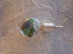 Miniture sea glass and sea pebble glass by TheEnglishEclectic, $25.00