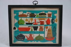 vintage original silk screen print