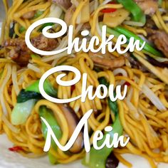 Easy and delicious Chicken Chow Mein made at home! This is the BEST chicken chow mein recipe, you don't need to looking farther! Tasty Videos, Food Videos, Cooking Videos, Asian Recipes, Healthy Recipes, Asian Egg Noodle Recipes, Rice Noodle Recipes, Oriental Recipes, Asian Dinner Recipes