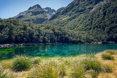 Blue Lake: on New Zealand's South Island.  Clearest lake in the world.  Water recycles every 24 hrs .