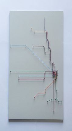 Chicago String Art Transit Map by SelerdorDesigns on Etsy, $50.00