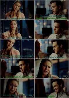 "I love how Mon-El flirts with Kara (""You really think I'm incredible?""). It's always heavy on the teasing, and I love how Kara's gotten used enough to it now to give it right back to him (""No! I just said that so you'd listen to me."") :D 