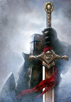 Dark Fantasy Art, Fantasy Armor, Dark Art, Armadura Medieval, Templar Knight Tattoo, Gladiator Tattoo, Warriors Wallpaper, Crusader Knight, Christian Warrior
