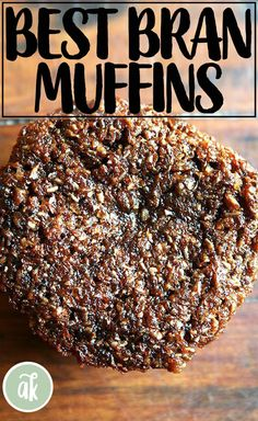 Made with toasted wheat bran, freshly grated orange zest, and simmered and puréed raisins, this bran muffin is one of the most delicious muffins out there. Raisin Bran Muffins, Bran Muffins With Raisins, Toast In The Oven, Healthy Breakfast Muffins, Cheese Rolling, Grain Foods, Thing 1, Muffin Recipes, Potato Recipes