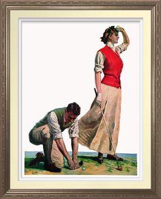 1909 Lady Golfer - Art Print. Vintage magazine illustration reproduced on Archival Heavyweight Paper http://www.zazzle.com/1909_lay_golfer_art_print-228492007511146586 #golf #art #print