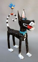 K-9's - Joyce Curvin Art ...Just love her fun and whimsical sculptures