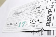 ticket invitation ZAPROSZENIE BILET  https://www.facebook.com/PaperMint.project