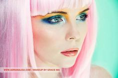 Bright colors~~Pink wig