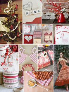 Red White Christmas Nordic Inspiration Board