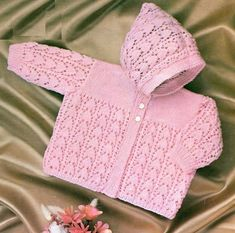 Knitting Patterns Vintage baby hoodie cardigan vintage knitting pattern PDF by Ellisadine Baby Knitting Patterns, Baby Patterns, Vintage Patterns, Free Knitting, Cardigan Bebe, Knitted Baby Cardigan, Girls Knitted Dress, Pull Bebe, Baby Girls