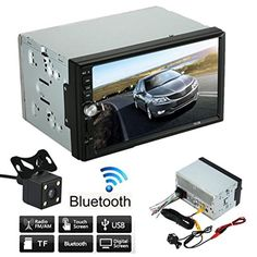 Hd Touch Screen Car Stereo Receiver Lary Intel Double  Din Car Stereo Mp Mp Mp Player Fm Radio Bluetooth Usb Aux Parking Camera