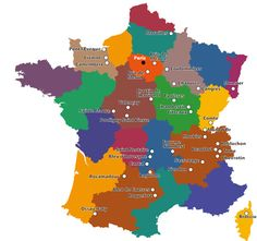 A map of French cheeses