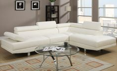 Looking for Poundex 2 Pieces Faux Leather Sectional Right Chaise Sofa, White ? Check out our picks for the Poundex 2 Pieces Faux Leather Sectional Right Chaise Sofa, White from the popular stores - all in one. 2 Piece Sectional Sofa, Leather Sectional Sofas, Sofa Couch, Chaise Sofa, Sleeper Sectional, Modern Sectional, Armless Chair, Reclining Sectional, Cream Sectional