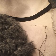 Making another saddle pad; this time in exclusive pelssau (fur sheep) sheepskin.