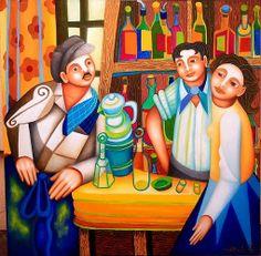 Philippe Loubat, artiste peintre français : César, Marius, Fanny