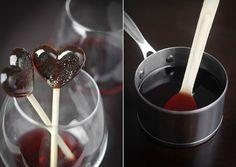 red wine lollipop
