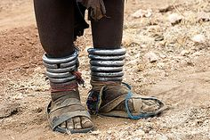 Africa | Hamer woman; details.  Omo Valley, south Ethiopia | ©Age Photostock