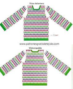 Super Crochet Paso A Paso Sueter 24 Ideas - Diy Crafts - - Diy Crafts - Crochet Jumper Pattern, Jumper Patterns, Crochet Tunic, Crochet Cardigan Pattern, Crochet Jacket, Filet Crochet, Crochet Clothes, Crochet Patterns, Diy Crafts Crochet