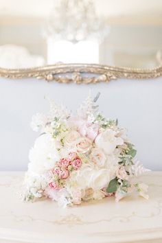 Blush Pink & White Bridal Bouquet | Wedding Flowers | Sarah Jane Ethan Photography | http://www.rockmywedding.co.uk/charlotte-kevin/