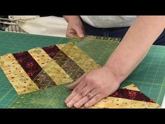 April 2019 Quilt-Along: Strippy Quarter-Square Triangles - YouTube