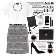 """""""23.08.15"""" by theblondemacaroon ❤ liked on Polyvore featuring Gianvito Rossi, Rochas, Accessorize, Bodum, Bobbi Brown Cosmetics, Arco, Envi, MiN New York, Christian Dior and Prada"""