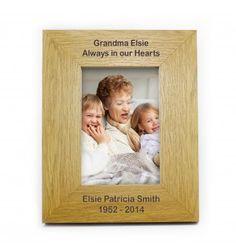 Oak Finish 6x4 Portrait Frame - Long Message | Photo Frames | Exclusively Personal