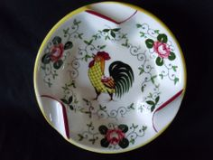rooster and roses | PY Rooster and Roses Ashtray from antiquesinclusive on Ruby Lane